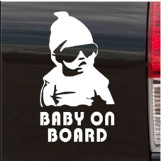Cool Baby on Board-Car,Van,Door,Sticker,Sign,Safety,Warning,Decal,Funny